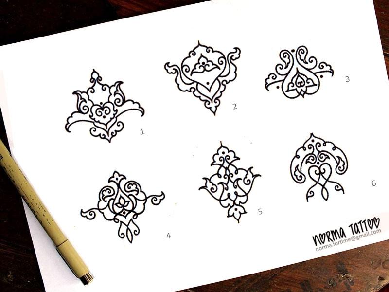 Ornement Persan ♥ DISPO //motif 1,2,4, 5 et 6 réservés