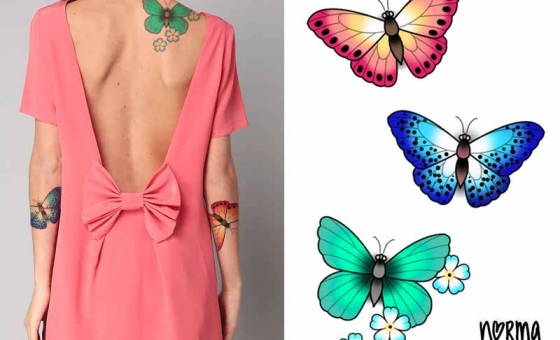 Lovely Pap #01 ♥ DISPO – papillon bleu et vert reservés (ensemble ou séparément )