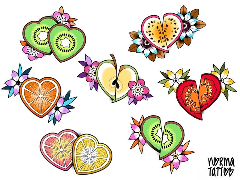 Tranches de fruit d'amour ♥ DISPO (Kiwi double/fruit de la passion/clementine > réservés) Taille approximative 10X10 cm