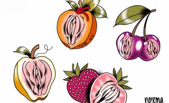 Yoni Fruity ♥ DISPO (taille aprox : 8×8 cm) (fraise résérvé)