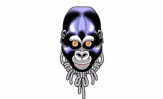 Gorille ♥ DISPO ( taille minimum: 10 cm )