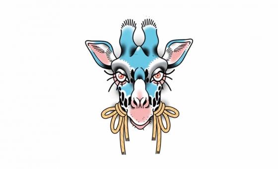Girafe ♥ DISPO ( taille minimum: 10 cm )